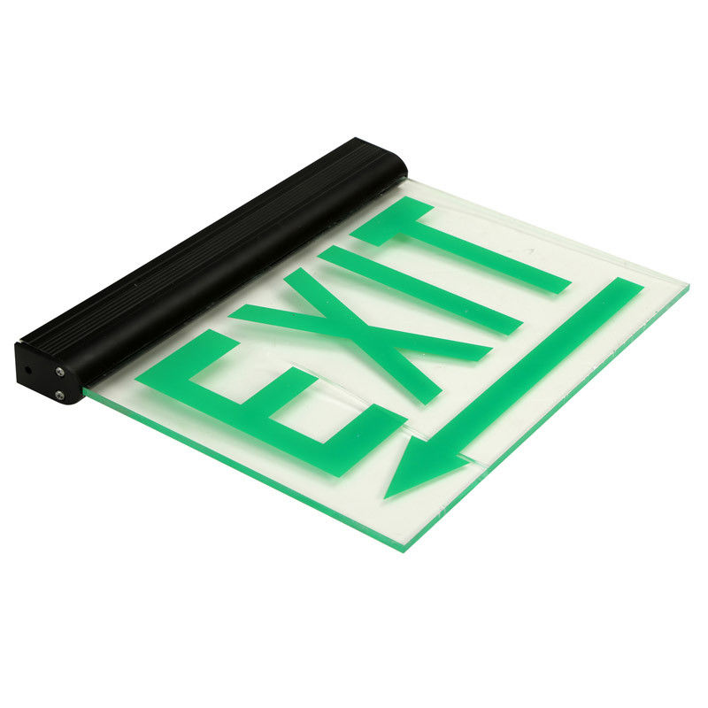 China Acrylic Rechargeable Double Sided Emergency Exit Signs IP20 With Battery Operated factory