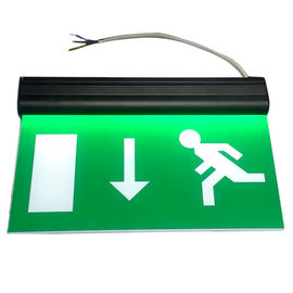 China Alumium End Cap Battery Powered Rechargeable Double Sided Exit Signs distributor