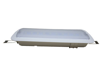 China Battery Operated LED Ceiling Recessed Emergency Light With Fire Resistance ABS distributor