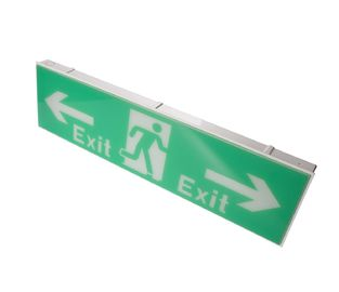 China Ni-cad Battery Operated SMD LED Emergency Exit Sign Light 220-240V distributor