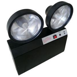 China Steel Casing Black 2x1.5W Two Heads Led Emergency Twin Spot With Test Button distributor