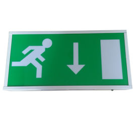China IP20 Maintained Fluorescent Emergency Light Fire Exit Signs With PC Diffuser distributor