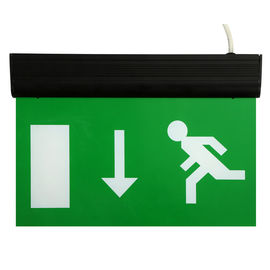 Alumium End Cap Battery Powered Rechargeable Double Sided Exit Signs