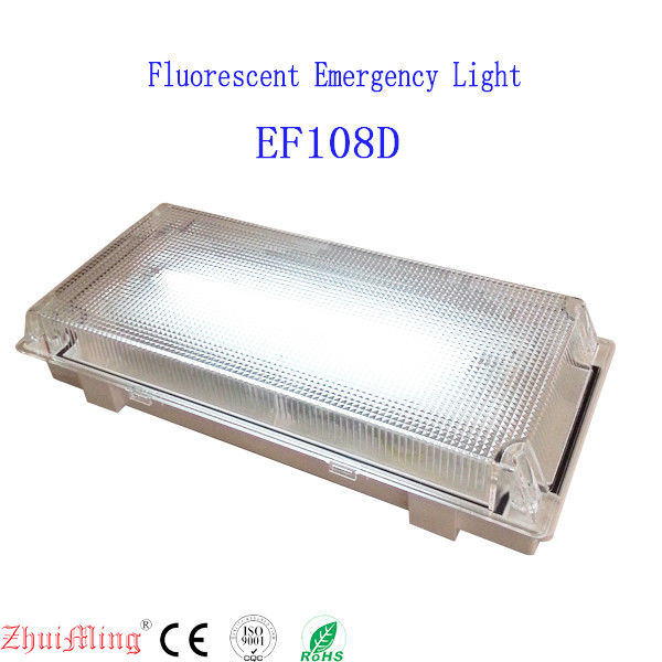 Fluorescent Waterproof PC Casing and diffuser Emergency Light